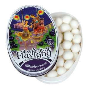 Les Anis de Flavigny All Natural Blackcurrant Flavored Mints