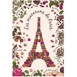 Torchons & Bouchons Tea Towel Macarons de Paris