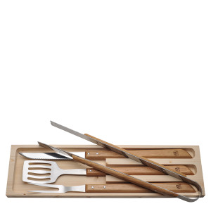 Jean Dubost  4 piece BBQ set Oak