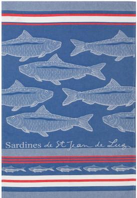 Jean Vier Arnaga Tea Towel with Sardine Design