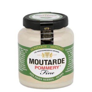 Pommery Fine Herbs Mustard - Small Stone Jar