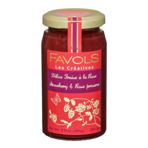 Favols Strawberry Jam with Rose Petals