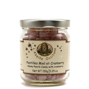 L'Abeille Occitane Honey Pearls Candy with Cranberry