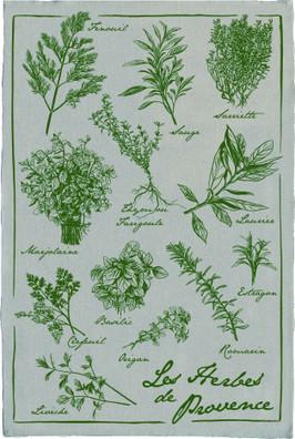 Torchons & Bouchons Linen Tea Towel Herbs de Provence