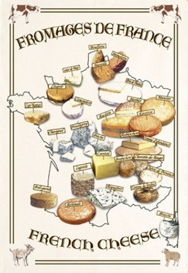Torchons & Bouchons Tea Towel Fromages France