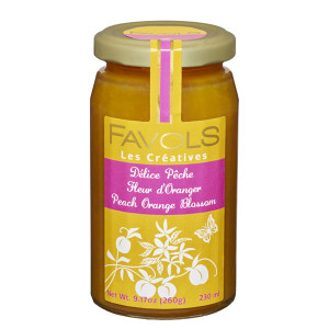Favols Peach Jam with Orange Blossoms