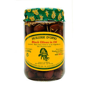 Moulins de la Brague Nicoise Olives in Oil with Herbs in a Jar