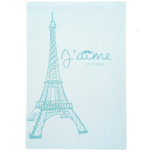 Coucke Blue Eiffel Tower Tea Towel