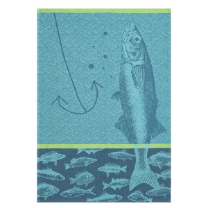 Coucke Fishing Tea Towel