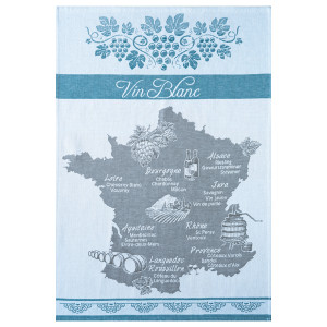 Coucke White Wine Map Tea Towel