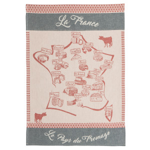 Coucke Cheese Map Tea Towel