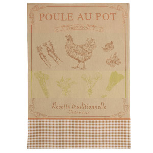 Coucke Chicken Recipe Tea Towel