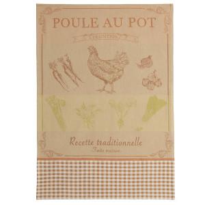 Coucke Chicken Recipe Tea Towel