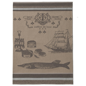 Coucke Prestige Caviar Tea Towel