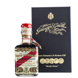 "Giuseppe Giusti 5 Gold Medals ""Banda Rossa"" Cube with Box Balsamic Vinegar de Modena"
