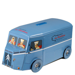 La Trinitaine Blue Delivery Van Palet Gift Tin