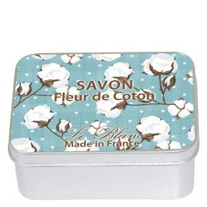 Savon Le Blanc Cotton Flower Soap in Cotton Flower Tin