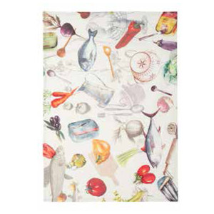 Coucke Sardines Linen Tea Towel
