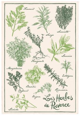 Torchons & Bouchons Tea Towel Herbs de Provence