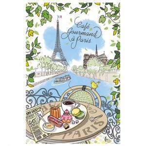 Torchons & Bouchons Tea Towel Café Gourmand