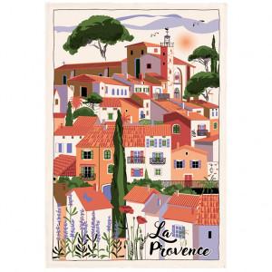 Torchons & Bouchons Tea Towel Provence Village