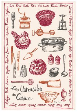 Torchons & Bouchons Tea Towel Utensils