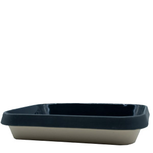Manufacture de Digoin Large 3L Baking Dish Navy Blue