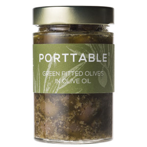 Porttable Pitted Green Olives in Extra Virgin Olive Oil