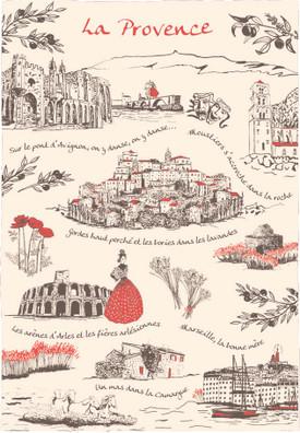 Torchons & Bouchons Tea Towel La Provence