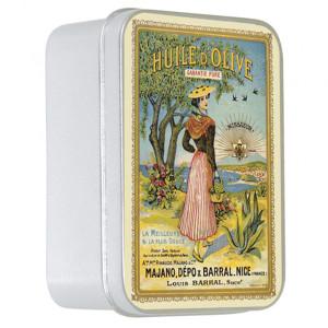 Savon Le Blanc Natural Olive Oil Soap in La Nicoise Tin