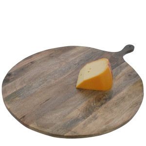 French Farm Collection Large Round Serving Tray with Handle