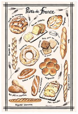 Torchons & Bouchons Tea Towel Pains de France