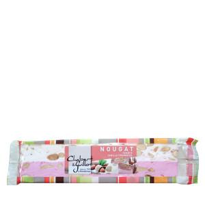 Chabert & Guillot Soft Montelimar Nougat Bar Vanilla & Raspberry