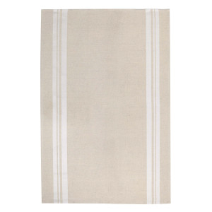 Jean Vier St Jean Tea Towel in Beige & White