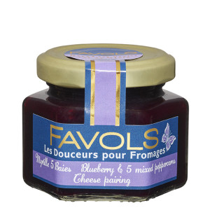 Favols Blueberry and Mixed Five Peppers Jam for Cheese