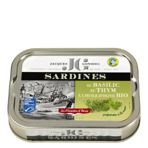 Gonidec Sardines in Organic Extra Virgin Olive Oil with Basil & Thyme