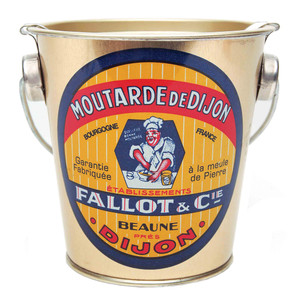 Edmond Fallot Dijon Mustard in a Decorated Metal Pail