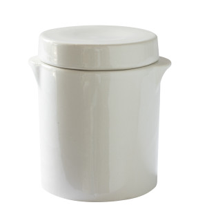 Manufacture de Digoin Canister with Lid White