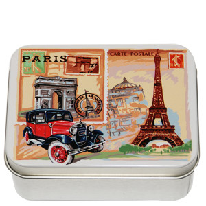 Savon Le Blanc Rose Soap in Paris Metal Tin