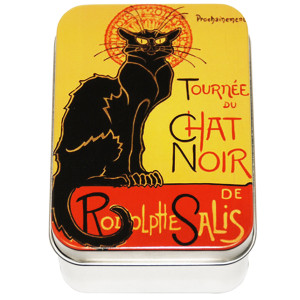 Savon Le Blanc Rose Soap in Chat Noir Tin