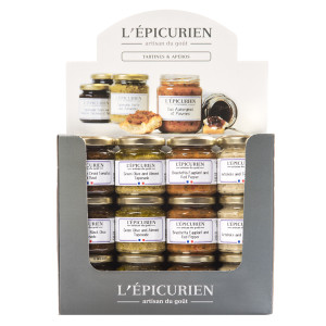 L'Epicurien 36-jar Display Box of Assorted Appetizer Spreads