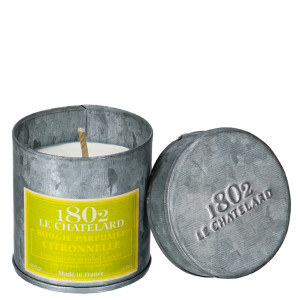 Le Chatelard Citronella Scented Candle in Metal Tin