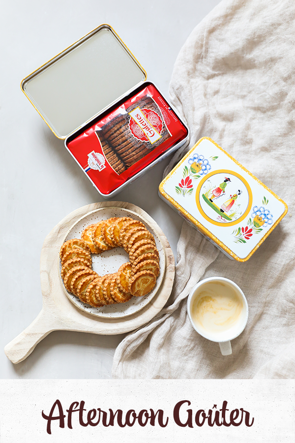 French cookies with a coffee for an afternoon snack