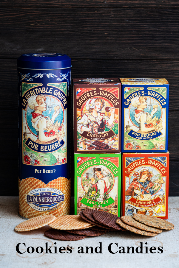 Waffle from La Dunkerquoise pure butter in blue tin