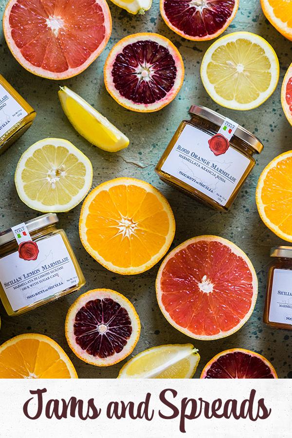 Jams, spreads, marmalades and caponatas from Frantoi Cutrera - Italian food - Europe