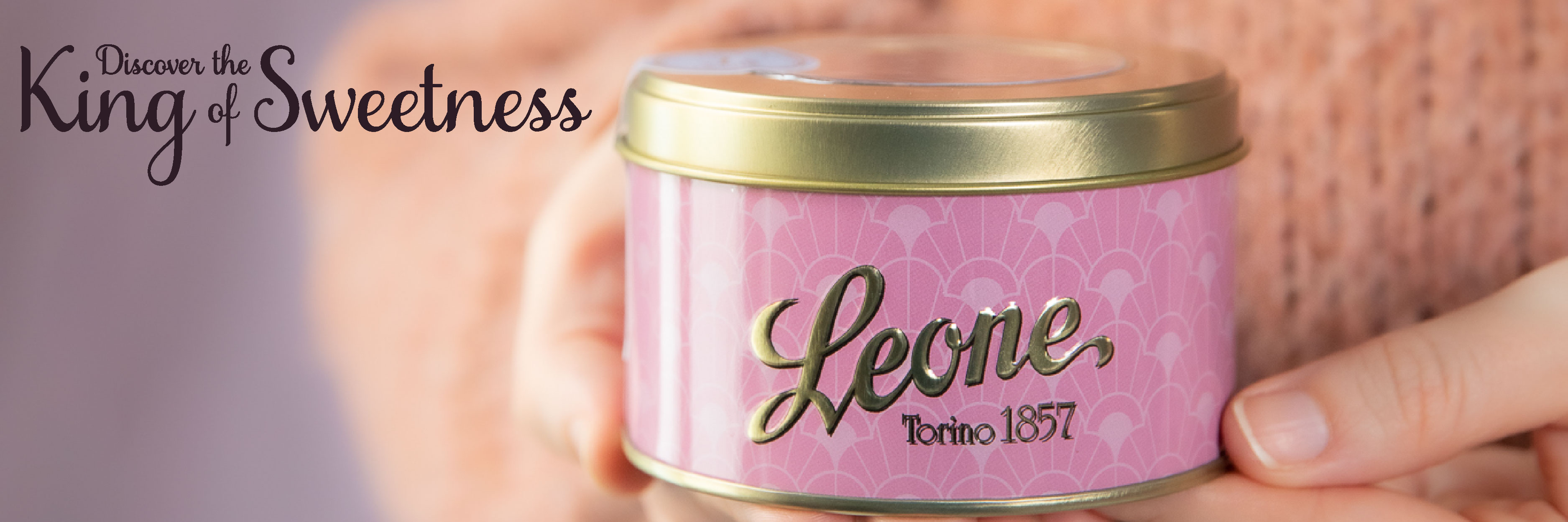 Box of Italian violet candies by Leone