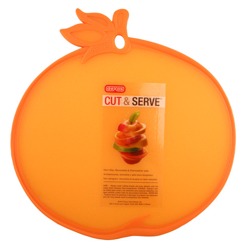 Prepare and serve fruits, cheeses, appetisers and more in style. Raised grip edge also acts as a juice barrier. Adds a dash of colour to any kitchen, plus poly won't dull fine knives.
