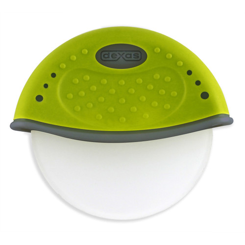 • Perfect for thin pizza, flat breads, and pastry dough • Dishwasher safe, food-safe poly cutting wheel • Cutting wheel snaps out for easy cleaning • ABS/TPE half-circle handle provides smooth rolling • 4 in. cutting wheel, 4.75 in overall height