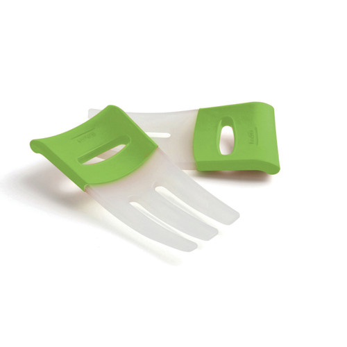 Ideal for tossing, scooping, and serving salads, pasta, and more! Designed with rubber grip handles to keep hands from slipping into the bowl.