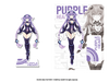 Goddess Acrylic Standee: Purple Heart